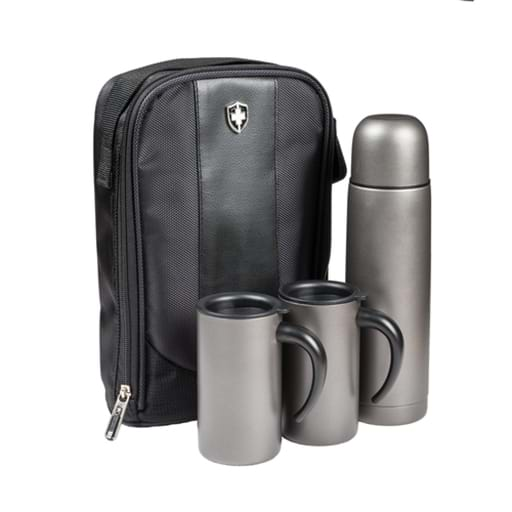 Swiss Peak Flask & Mug Set