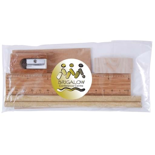 Bamboo Stationery Set In Cello Bag