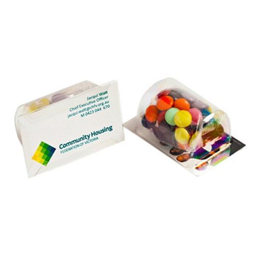 Biz Card Treats -  Choc Beans 25G (Mixed Colours)