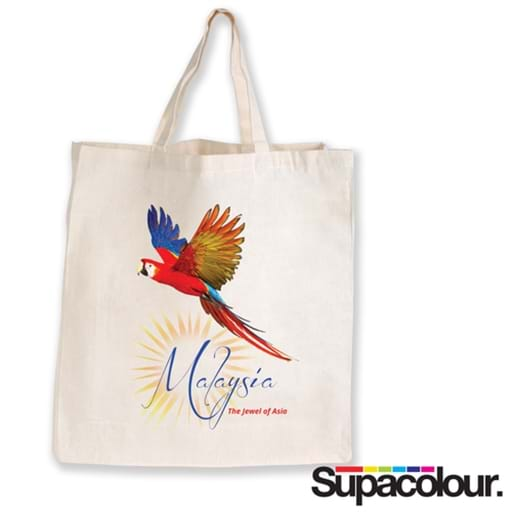 Supa Shopper Short Handle Calico Bag - 130 GSM