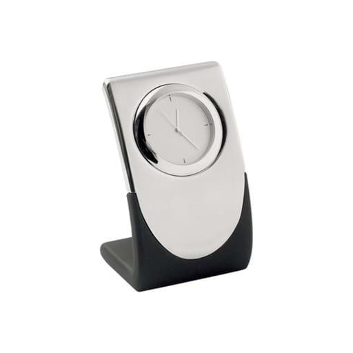 Elite Silver Quartz Clock