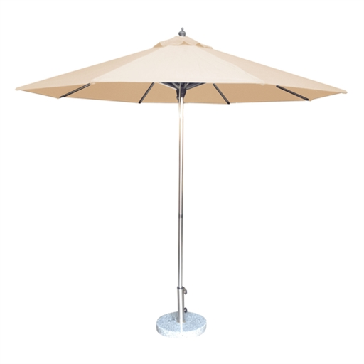 2.7M Tuscany Polished Market Umbrella, Acrylic Canvas Cover
