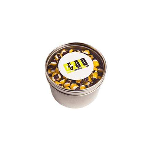 Small Round Window Tin - Tiny Humbugs 100G