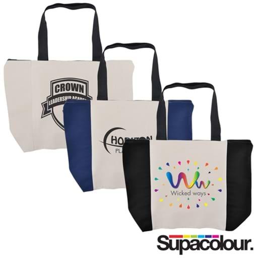 Carry All Calico Zip Bag - 305 GSM