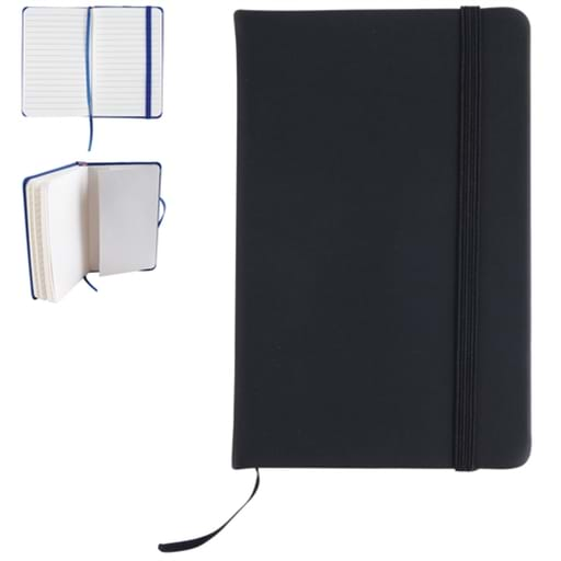 Notebook With Elastic Closure / Expandable Pocket