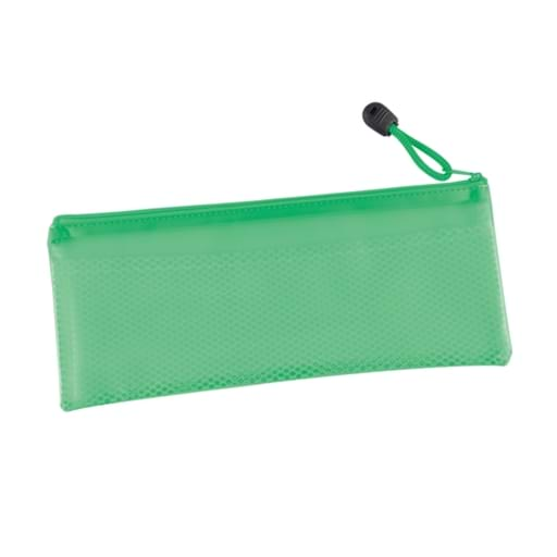 PVC Pencil Case/Organiser With Zipper And Mesh Divider