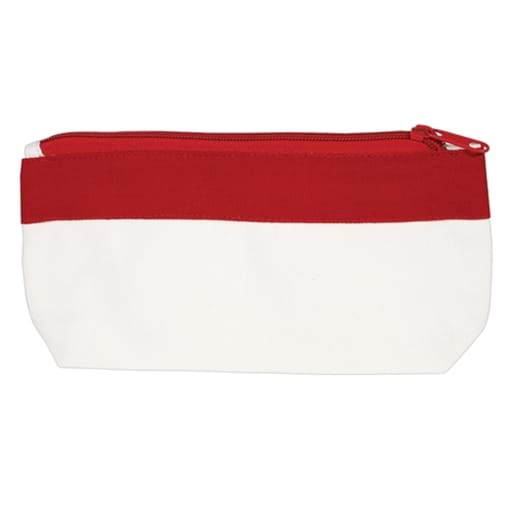 Cotton Canvas Organiser / Pencil Case With Zipper
