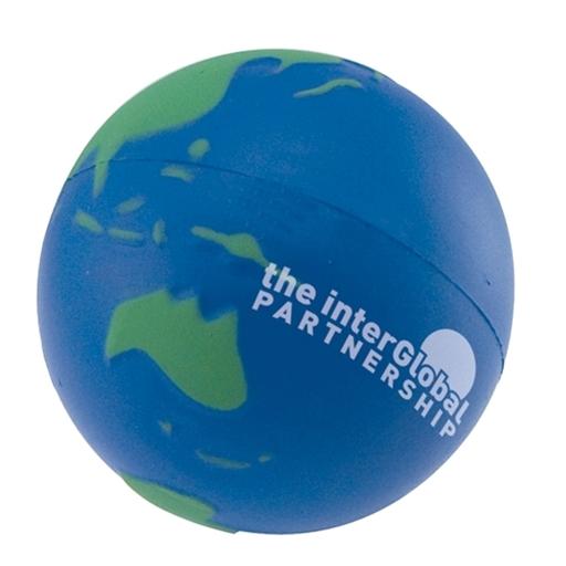 Stress Earth Ball, Blue Green