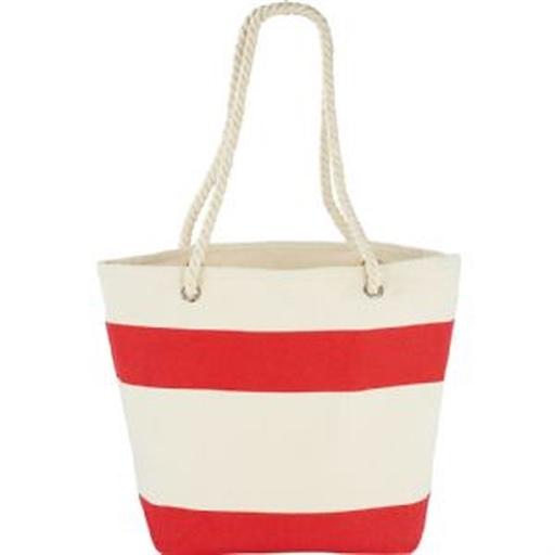 Capri Stripes Cotton Shopper Tote