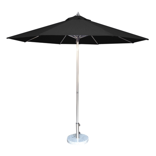 3.5M Tuscany Polished Market Umbrella, Polyester Cover
