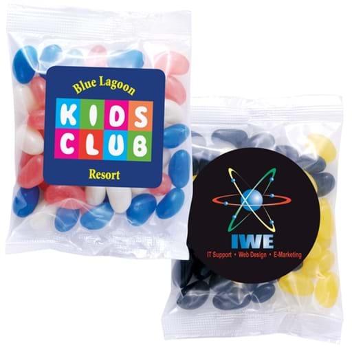 Corporate Colour Mini Jelly Beans In 60 Gram Cello Bag