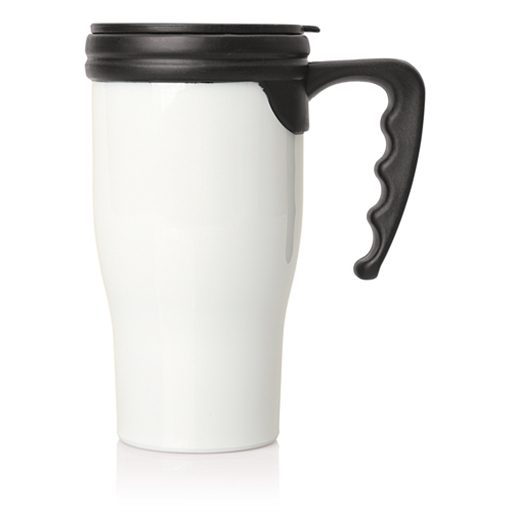 Double Walled Plastic Thermo Travel Mug
