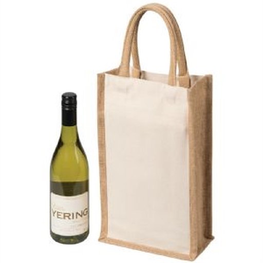 Two Bottle Canvas Wine Carrier