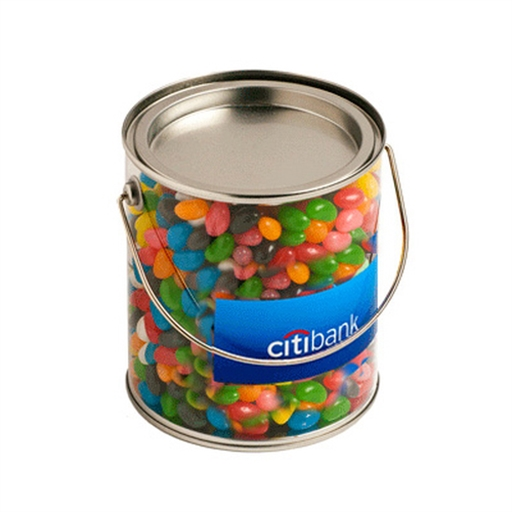 Big Pvc Bucket - Jelly Beans 900G  (Corp Coloured Or Mixed Coloured Jelly Beans)