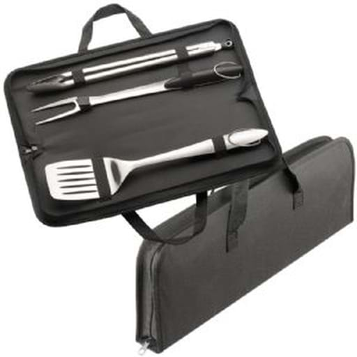 3 Piece Stainless Steel BBQ Set